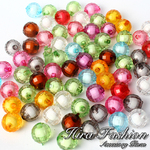 Acrylic Beads inside color     size  12 mm.
