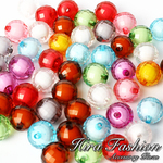 Acrylic Beads inside color     size 14 mm.
